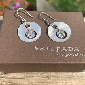 W1843 Silpada mother of pearl disc earrings